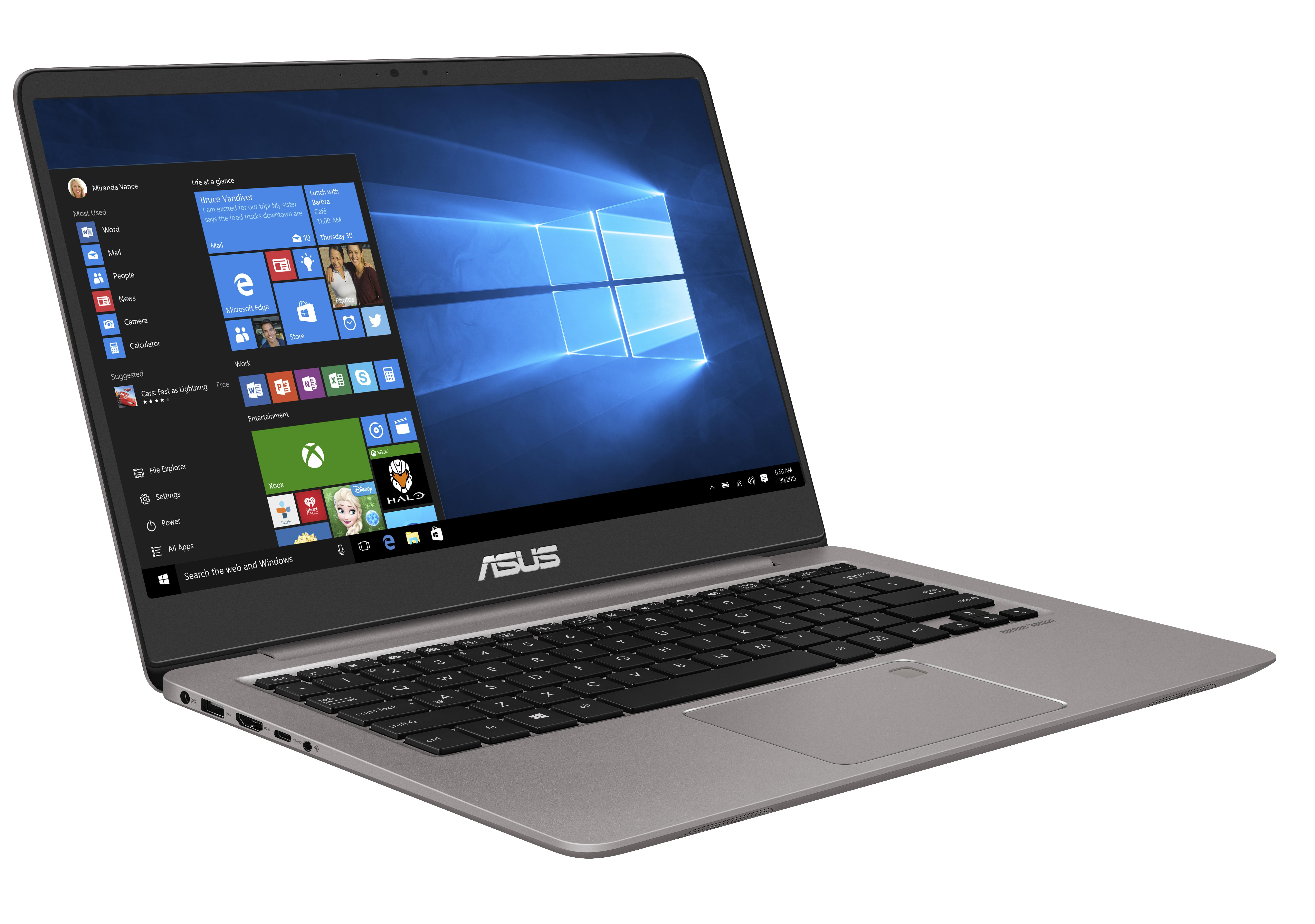 "ASUS UX410UA-GV024 i3-7100U/4GB/128GB SSD M.2/HD graphics/14"" FHD LED matný/Grey"