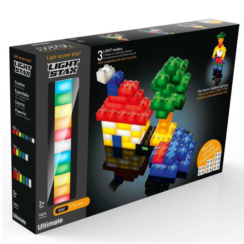 LIGHT STAX svítící stavebnice Ultimate Set (Mixed 75pcs) - DUPLO® - kompatibilní