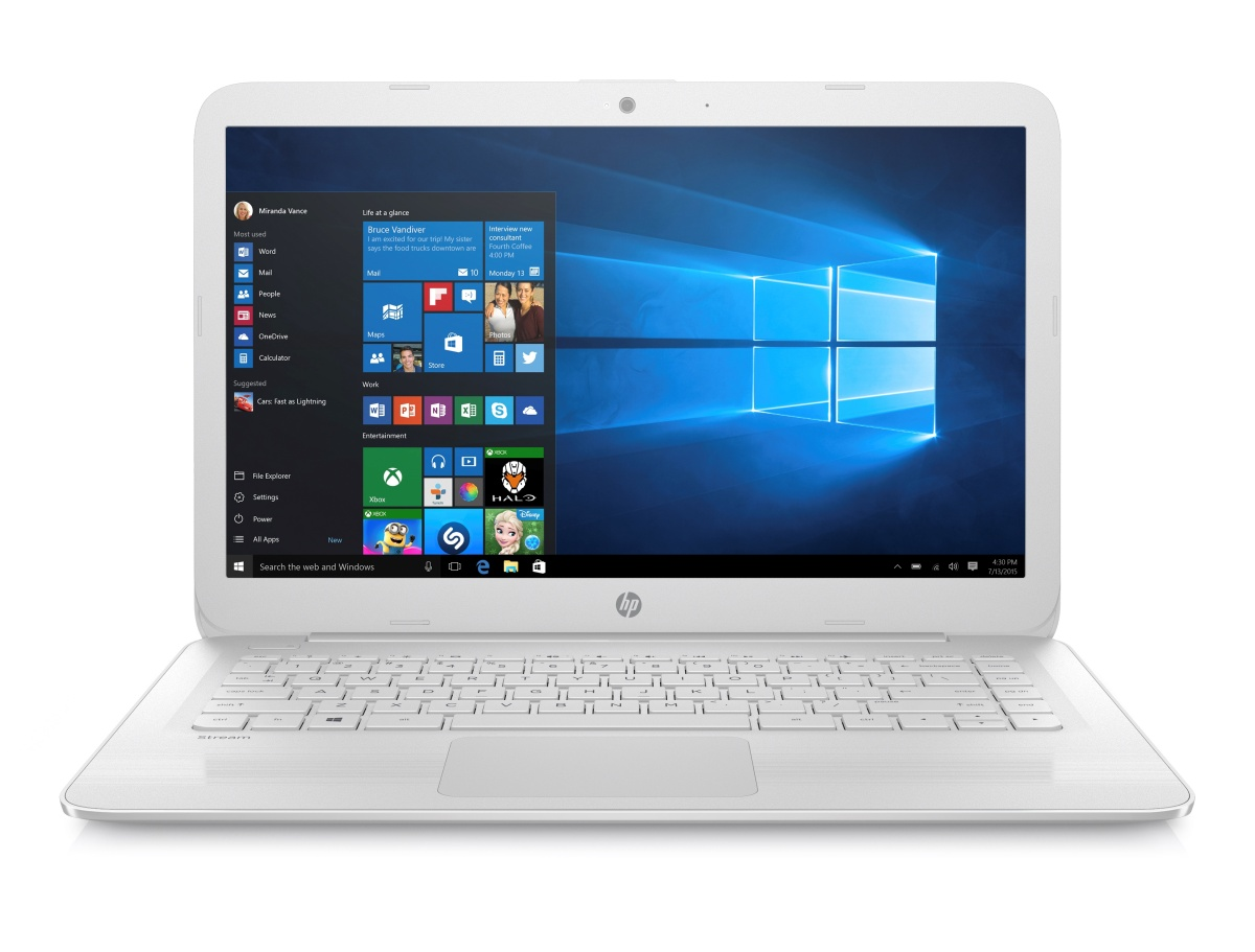 "HP Stream 14-ax003nc - notebook 14"" (1366x768), Intel Celeron N3060, 4GB DDR3, 32GB SSD, Intel HD, W10"