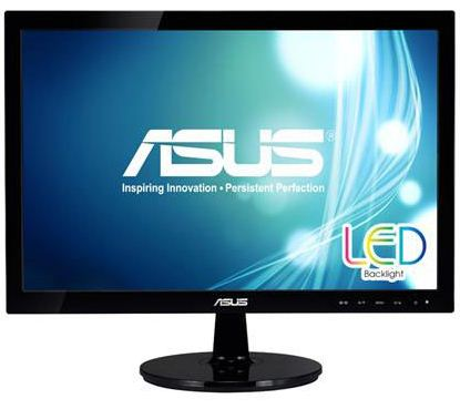 "ASUS 18,5"" LED VS197DE/ 1366x768/ 16:9/ 5ms/ 200cd/m2/ D-SUB/ VESA 75x75/ černý"