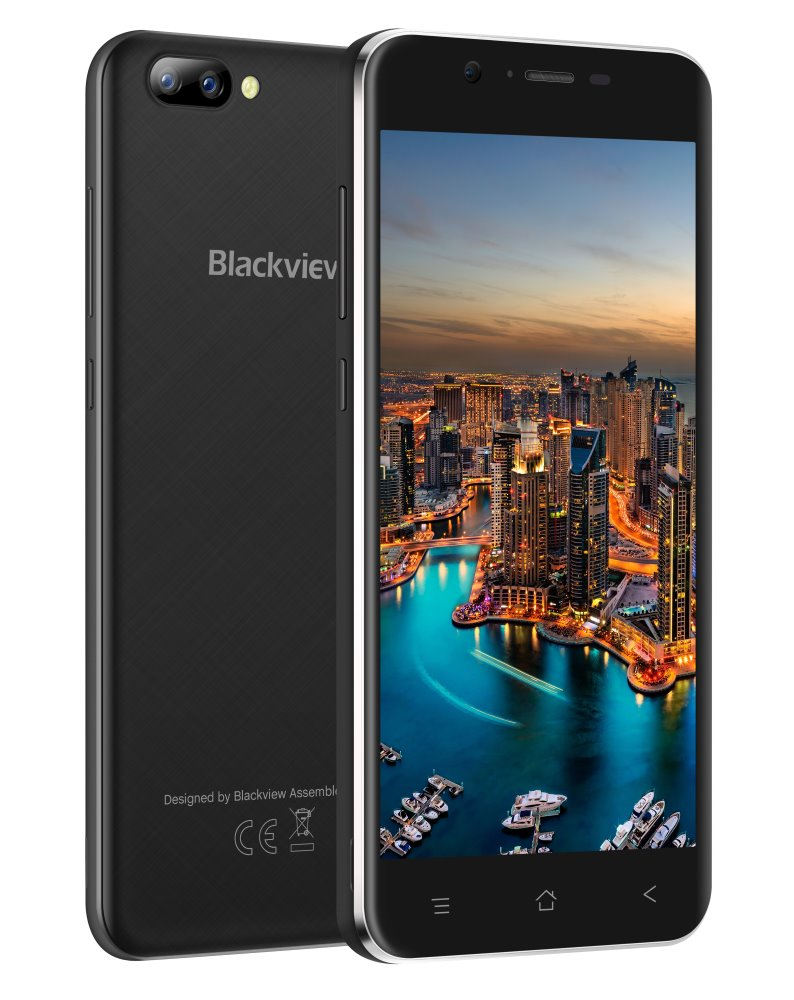 "iGET Blackview GA7 - Black 5"" IPS 1280x720, QuadCore, Dual SIM, 1GB+8GB,8 MPx+5 MPx, 3G, Android 7"