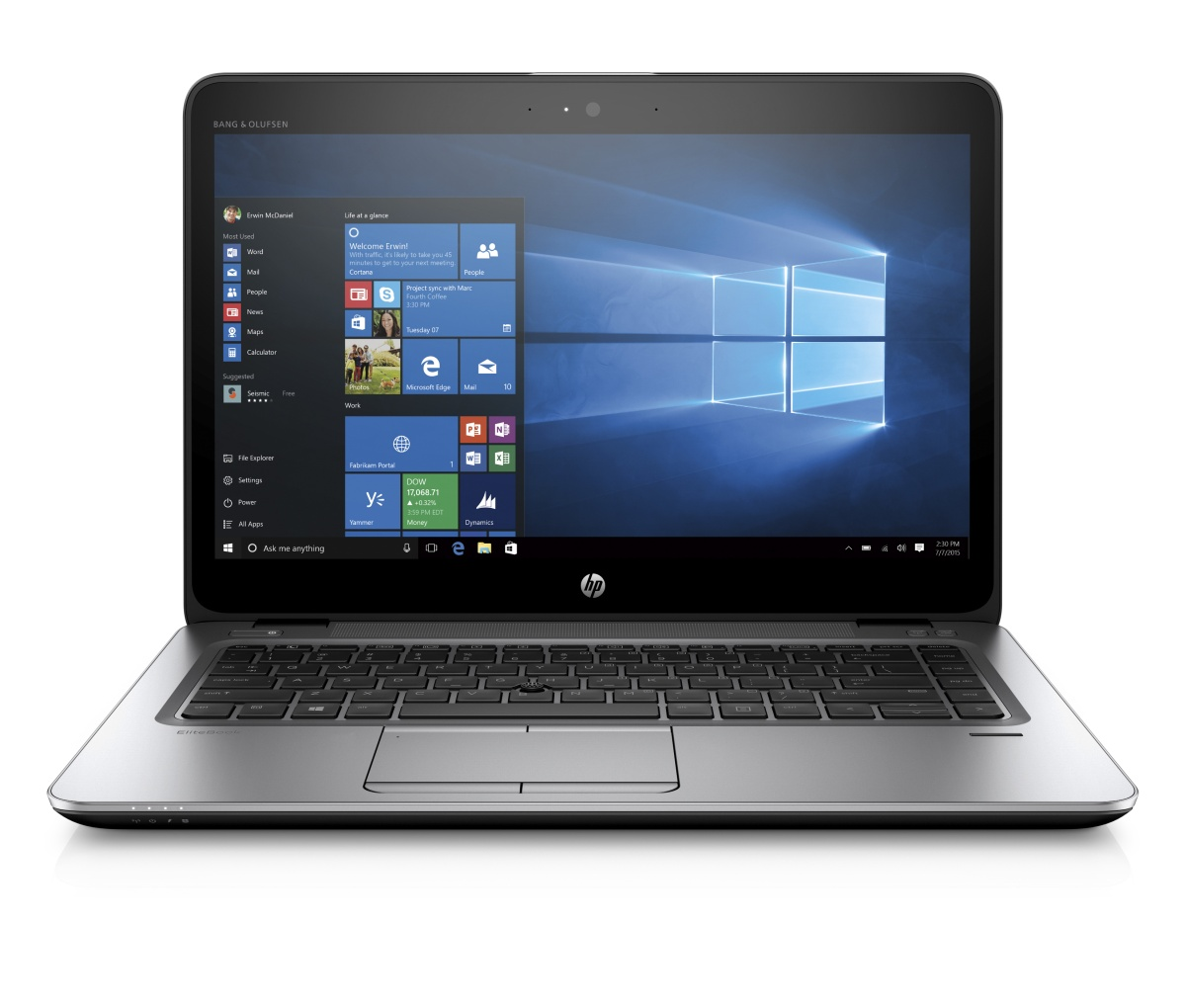 "HP EliteBook 840 G3 i5-6300U 14"" HD CAM, 4GB, 500GB, ac, BT, vPro, FpR, backlit keyb, 3C LL batt, Win 10 Pro downgraded"