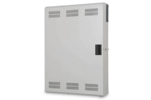 Digitus Wall mounting cabinet, Slim 900x600x200 mm, 3U horizontal and vertical mountings, grey (RAL 7035)