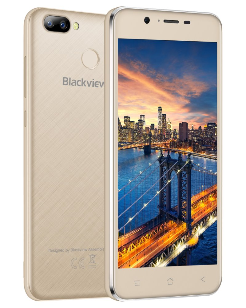 "iGET Blackview GA7Pro - Gold 5"" IPS 1280x720, QuadCore, Dual SIM, 2GB+16GB, 13 MPx+8 MPx, LTE, Android 7"