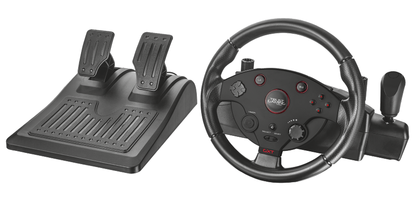 Trust GXT 288 Racing Wheel / 2 pedály / 270° / feedback / USB