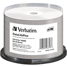 Verbatim CD-R | cake box 50 | 700MB | 52x | Wide Thermal printable ]