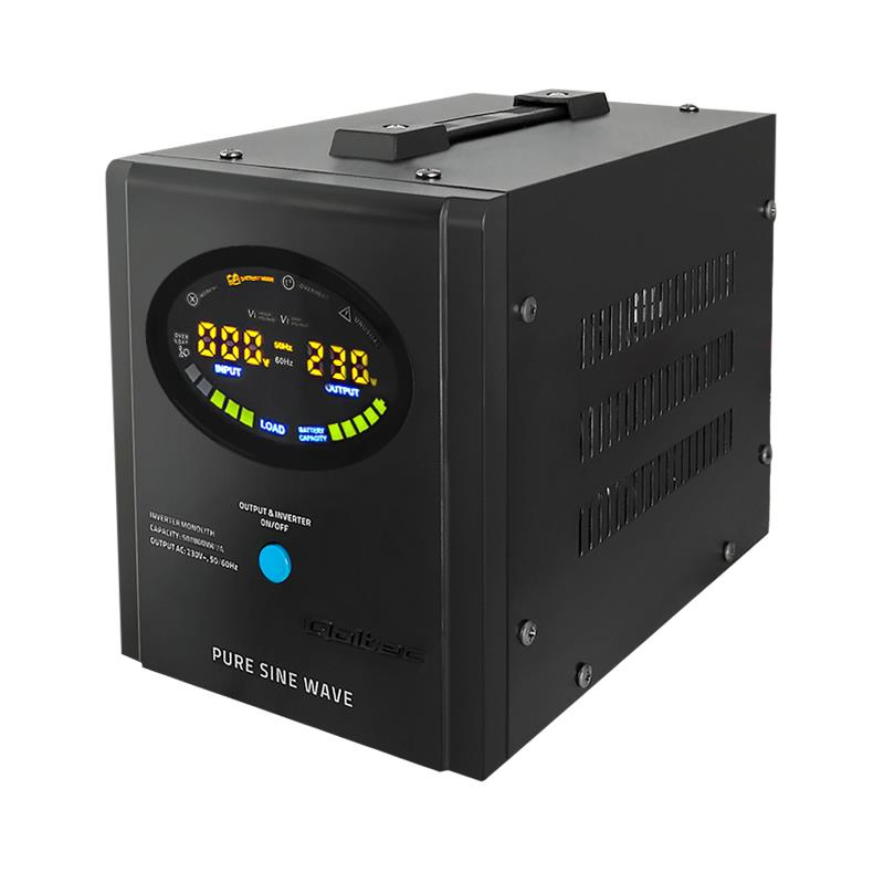 Qoltec Inverter/ Emergency power supply Pure Sine Wave 500W 800VA LCD black