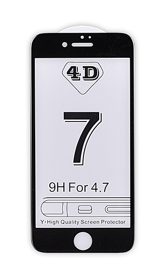 4D tvrzené sklo Apple iPhone 7 Black (FULL GLUE)