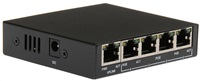 MaxLink PSAF-5-4P-L PoE mini switch, 5x LAN/4x PoE, 802.3af/at, 60W, 10/100Mbps
