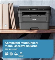 BROTHER multifunkce laserová DCP-L2532DW - A4, 30ppm, 64MB, 600x600copy, duplex, USB 2.0, 250listů, WIFI
