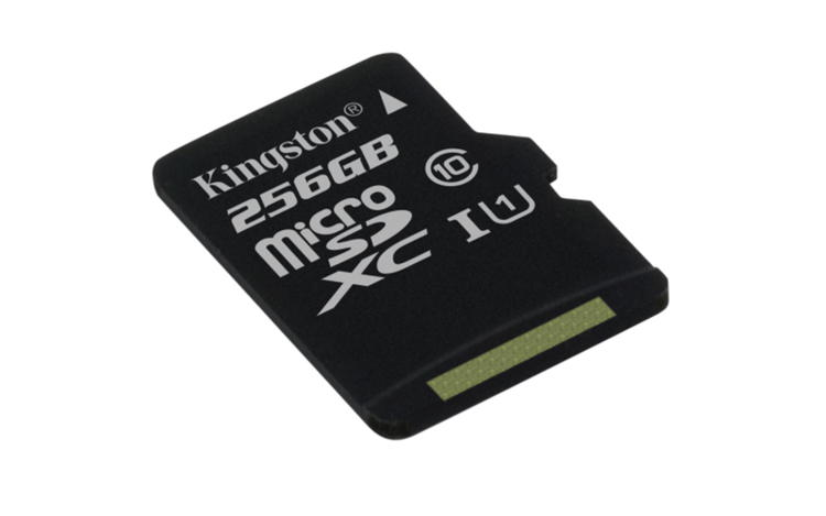 KINGSTON 256GB microSDXC CANVAS Class 10 UHS-I 80MB/s Read Card + bez adaptéru