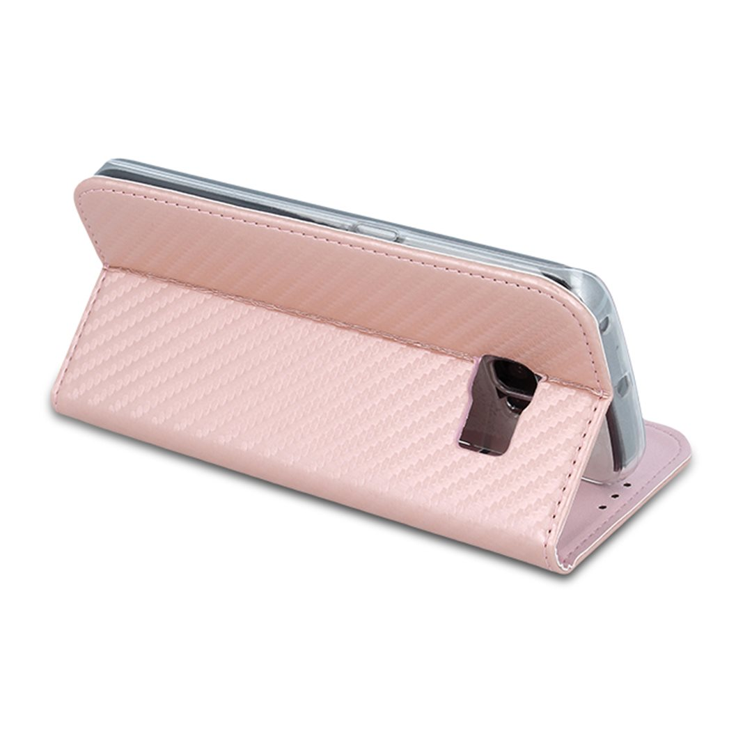 Smart Carbon pouzdro Samsung Galaxy A8 2018 Rose Gold