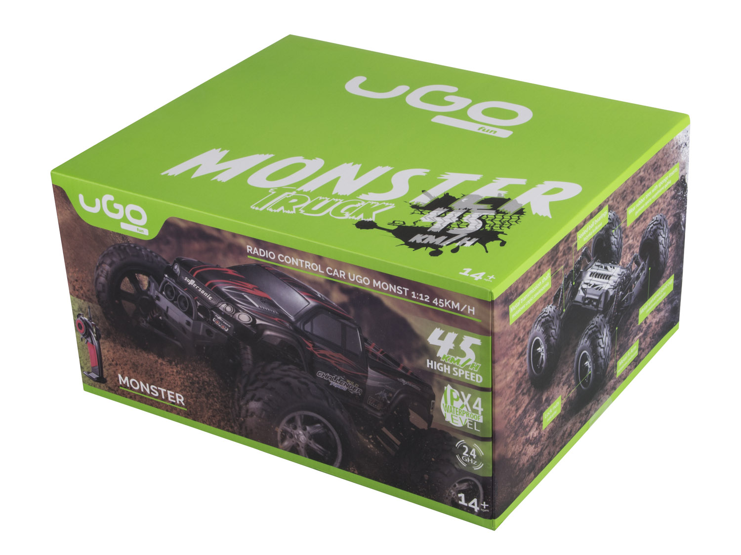 RC model UGO Monster 1:12 45 km/h