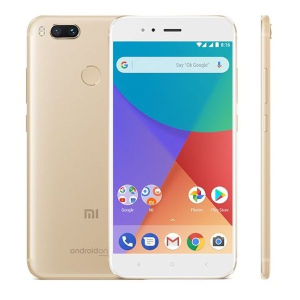 Xiaomi Mi A1 Global Gold/5,5´´ FullHD/2GHz OC/4GB/32GB/SD/2xSIM/12MPx/3080mAh