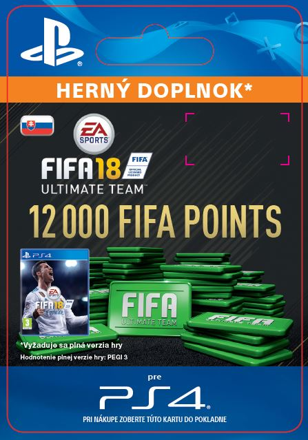 ESD SK PS4 - 12000 FIFA 18 Points Pack