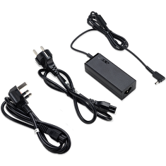 ACER ADAPTER 45W_3phy 19V Black EU and UK POWER CORD (Swift 1, 3, 5; Spin 1, 5; TM X3; TM Spin B1; Chromebook 11, R11