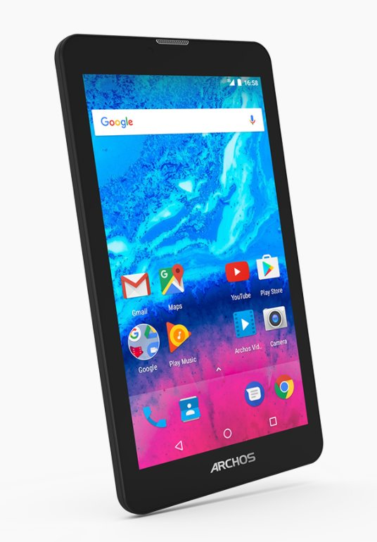 "ARCHOS Core 70 3G, Tablet 6.95"" 1280x720 IPS HD, 1.3GHz QC, 1GB/8GB, Android 7.0, Micro SD, Micro USB, GPS, Wifi, černý"