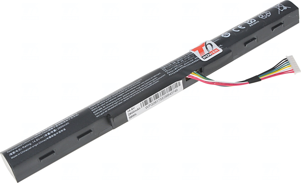 Baterie T6 power Acer Aspire E5-475, E5-575, E5-774, F5-771, TM P259-M, 2600mAh, 38Wh, 4cell
