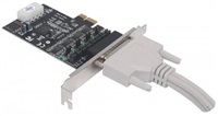 Manhattan Serial PCI Express Card, Adapter with four DB9 ports POŠKOZENÝ OBAL