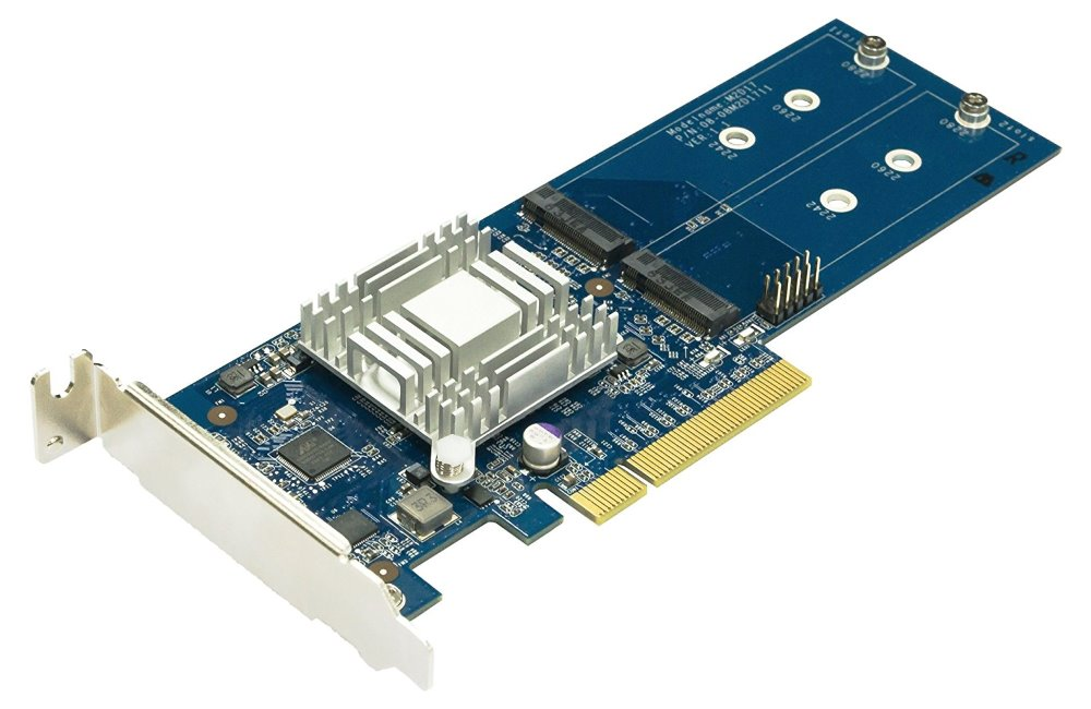 Synology M2D17 Adaptér do PCIe slotu pro 2x SSD M2 cache moduly