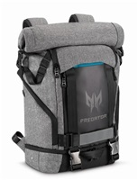 "ACER PREDATOR GAMING ROLLTOP BACKPACK FOR 15"" NBs GRAY n TEAL BLUE (RETAIL PACK)"