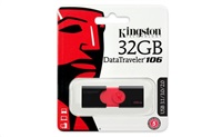 Kingston flash disk 32GB DT 106 USB 3.1 Gen1 (čtení až 100MB/s)