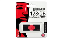 Kingston flash disk 128GB DT 106 USB 3.1 Gen1 (čtení až 130MB/s)