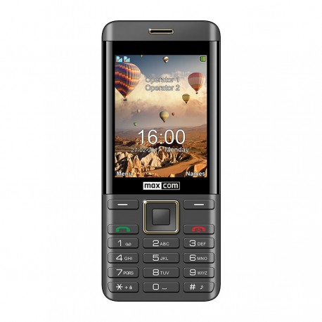 MAXCOM Classic MM236 DS gsm tel. Black/Gold