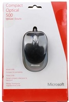 Microsoft Mouse Compact Optical 500 for Business, Black
