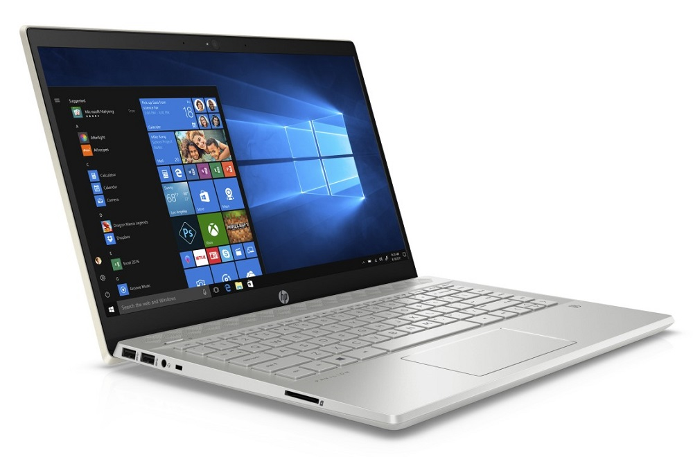 "HP Pavilion 14-ce0000nc/ i5-8250U/ 8GB DDR4/ 256GB SSD + 1TB (5400)/ GeForce MX130 2GB/ 14"" FHD IPS/ W10H/ pale gold"