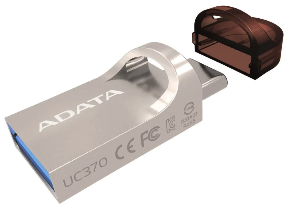 ADATA Flash disk UC370 32GB / 2v1 - USB 3.1 a USB Type-C / OTG / zlatá
