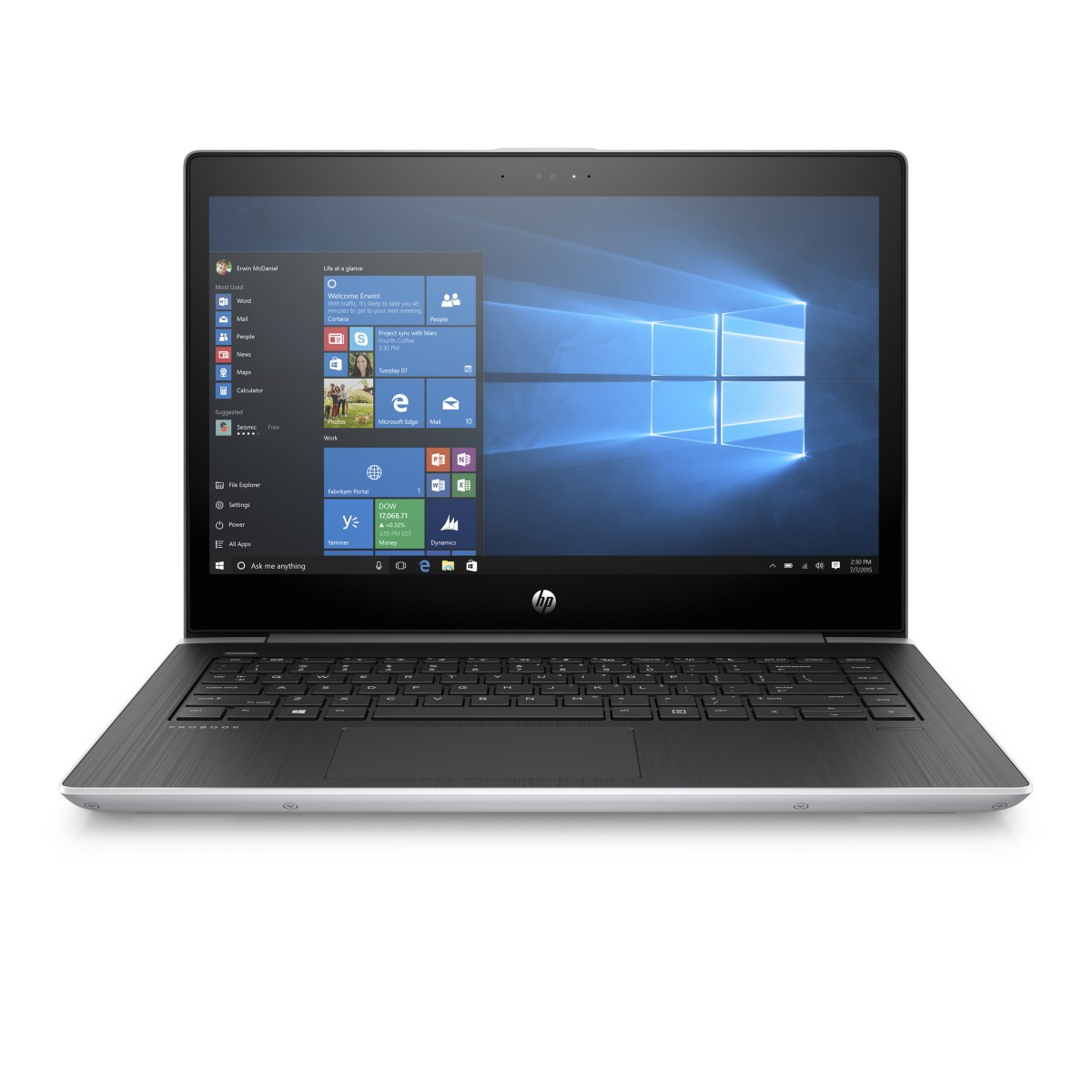 "HP ProBook 450 G5/ i5-8250U/ 8GB DDR4/ 256GB SSD +2,5""/ GeForce 930MX 2GB/ 15,6"" FHD UWVA/ W10H/ sea model/ stříbrný"